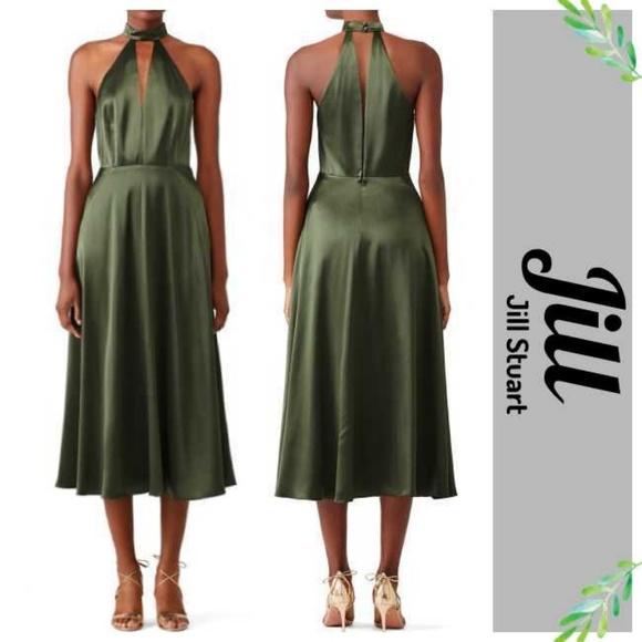 0c1ebb68265 Jill Stuart Dresses   Skirts - Jill Stuart Overplunging Olive Mock Neck  Dress
